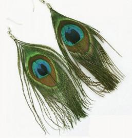echte veren oorbellen